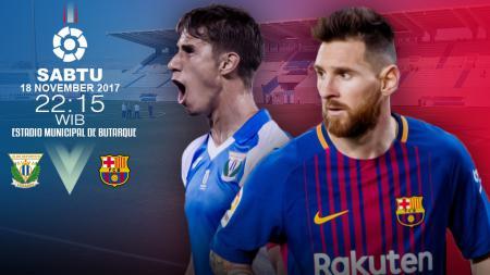 Barcelona berpeluang mengkokohkan posisi mereka di puncak klasemen La Liga Spanyol saat bertandang ke markas Leganes. - INDOSPORT