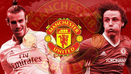 Manchester United bidik Gareth Bale dan David Luiz. - INDOSPORT