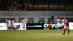 Situasi selebrasi para pemain Suriah. Herry Ibrahim/INDOSPORT