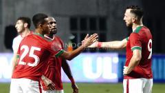 Indosport - Timnas Indonesia vs Suriah U-23 (Boaz Solossa, Ilija Spasojevic, dan Osvaldo Haay). Herry Ibrahim/INDOSPORT