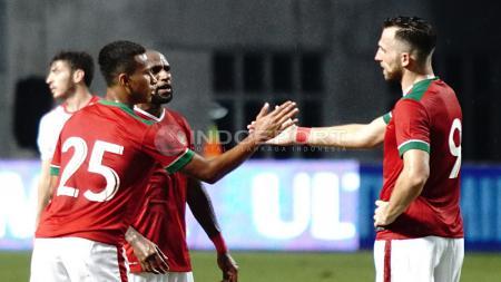 Boaz Solossa merupakan pemain yang membuat Ilija Spasojevic kagum saat ia kali pertama bermain di Indonesia. - INDOSPORT