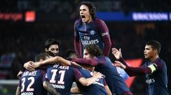 Selebrasi pemain Paris Saint-Germain.