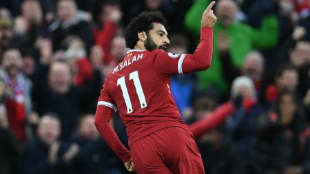 Mohamed Salah selebrasi gol - INDOSPORT