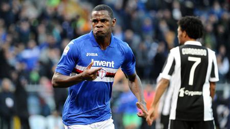 Duvan Zapata mencetak satu gol saat Sampdoria menagalahkan Juventus. - INDOSPORT