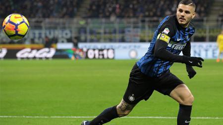 Inter Milan sukses taklukkan Atalanta berkat sumbangan 2 gol Mauro Icardi. - INDOSPORT