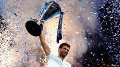 Indosport - Grigor Dimitrov menjuarai ATP Finals 2017.