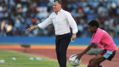 Indosport - Peter Butler mantan pelatih Timnas Botswana dan Persiba Balikpapan.
