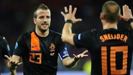 Rafael van der Vaart dan Wesley Sneijder - INDOSPORT