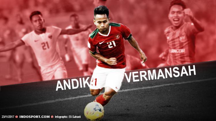 Andik Vermansah. Copyright: Grafis: Eli Suhaeli/INDOSPORT