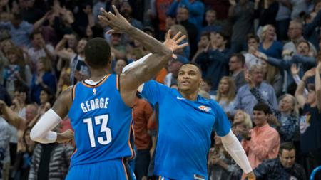 Oklahoma City Thunder menang atas Golden State Warriors. - INDOSPORT
