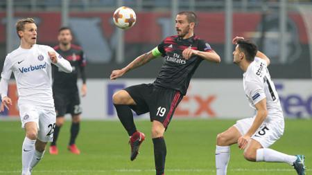 Leonardo Bonucci saat melawan FK Austria Vienne. - INDOSPORT