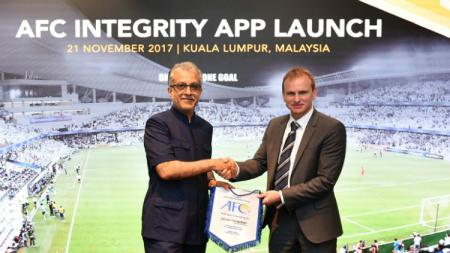 Peluncuran aplikasi AFC di Kuala Lumpur, Malaysia. - INDOSPORT