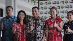 Indosport - PBSI dalam jumpa pers.