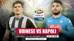 Indosport - Prediksi Udinese vs Napoli.