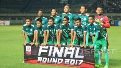 Indosport - Skuat PSMS Medan saat final Liga 2 lalu.