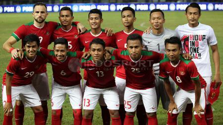 Starting line-up Timnas Indonesia. - INDOSPORT