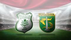 Indosport - Logo PSMS Medan dan Persebaya Surabaya.