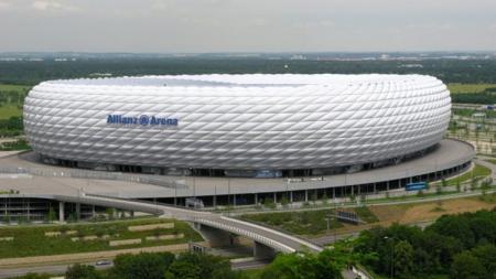 Allianz Arena stadion Bayern Muenchen, memiliki sebuah masjid yang dibangun di kawasan Stadion Allianz Arena. - INDOSPORT