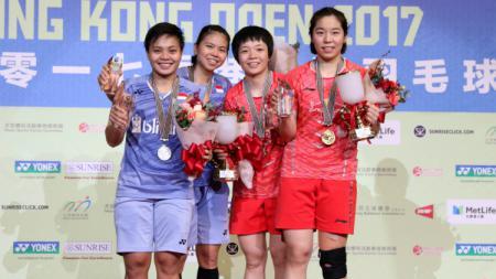Greysia Polii/Apriani Rahayu jadi runner up Hongkong Open 2017. - INDOSPORT