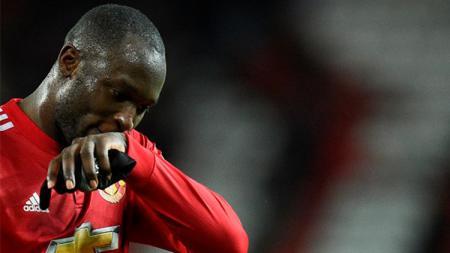 Penyerang andalan Manchester United, Romelu Lukaku. - INDOSPORT