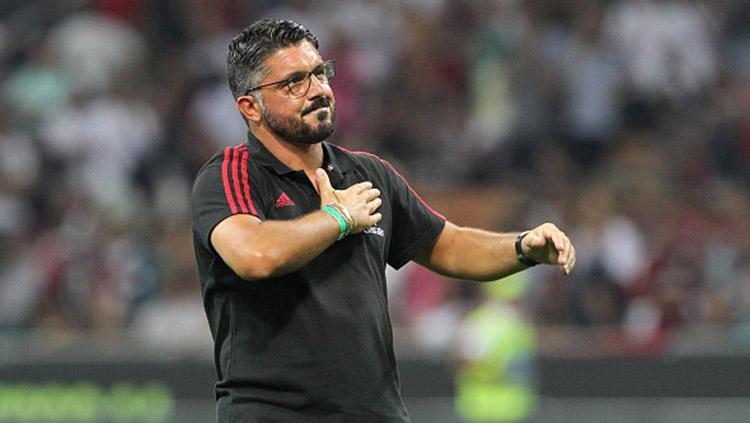 Gennaro Gattuso saat masih melatih tim junior AC Milan. Copyright: Getty Images
