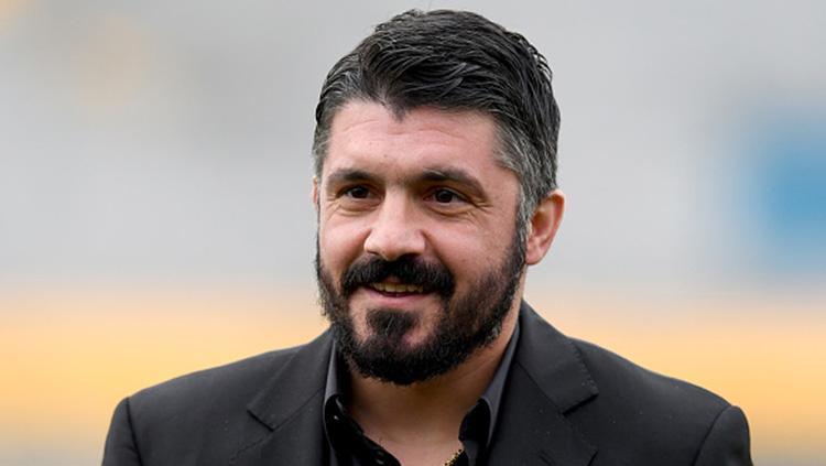 Gennaro Gattuso resmi menjadi pelatih tim utama AC Milan. Copyright: Getty Images