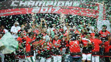 Perayaan juara Liga 2 2017.