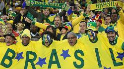 Ilustrasi suporter fanatik Timnas Brasil.