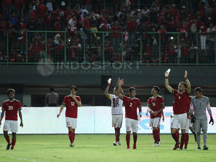 Timnas Indonesia pasca melawan Guyana. Copyright: INDOSPORT/Herry Ibrahim