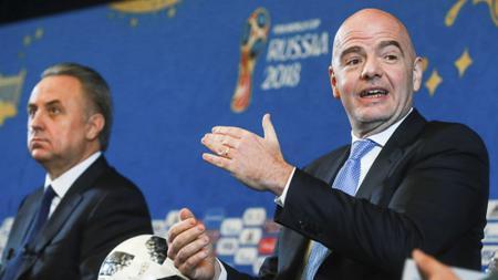 Presiden FIFA, saat persiapan Drawing FIFA World Cup 2018. - INDOSPORT