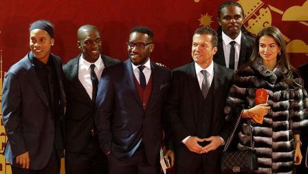 Ronaldinho, Clarence Seedorf, Jay-Jay Okocha, Lothar Matthaus dan Nwankwo Kanu.