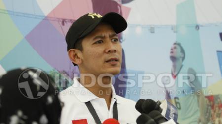 Pelatih Tim Putra Indonesia, Fandi Andika Ramadhani. - INDOSPORT