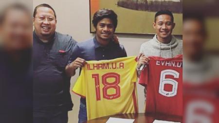Evan Dimas dan Ilham Udin Armaiyn resmi ke Selangor FA. - INDOSPORT