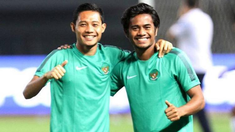 Evan Dimas dan Ilham Udin Armaiyn. Copyright: Instagram/evhandimas