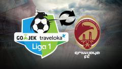 Indosport - Logo Liga 1 dan Sriwijaya FC.