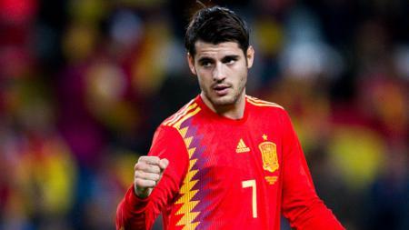 Alvaro Morata, striker Timnas Spanyol. - INDOSPORT