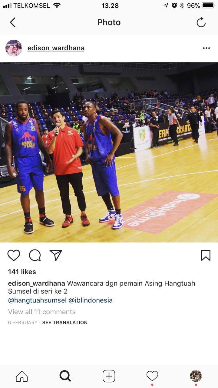 Mantan pemain basket, Edison Wardhana alami cidera saat menjadi stuntman yang membantu Demian Aditya. Copyright: Instastory