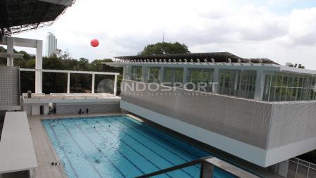 Salah satu sudut fasilitas di stadion Aquatic GBK.