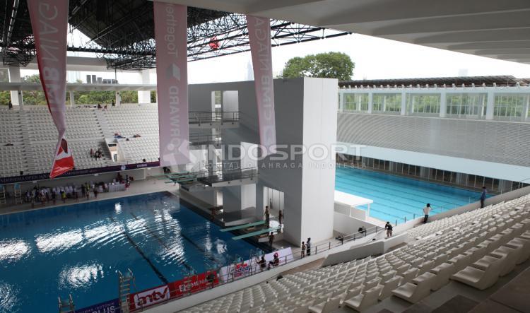 Stadion Aquatic baru saja diresmikan oleh Presiden Joko Widodo. Sabtu (02/12/17) kemarin. Copyright: Herry Ibrahim/INDOSPORT