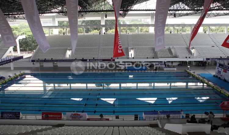 Fasilitas utama cabang Renang di stadion Aquatic. Copyright: Herry Ibrahim/INDOSPORT