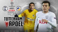 Indosport - Prediksi Tottenham Hotspur vs APOEL