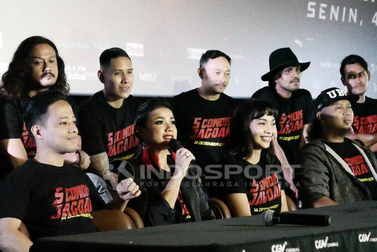 Press Screening film 5 jagoan. Copyright: INDOSPORT/Eronika Dwi Pinara