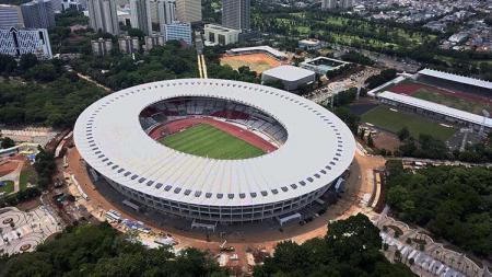 Pemandangan dari atas Stadion Utama Gelora Bung Karno. - INDOSPORT
