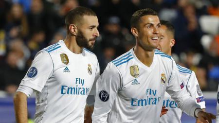 Ditinggal Cristiano Ronaldo, Karim Benzema jadi striker berjulukan