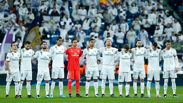 Para pemain Real Madrid sebelum kick off. Copyright: INDOSPORT