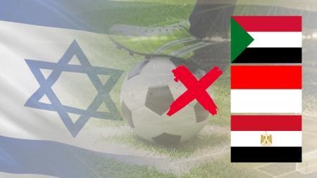 Bendera, Israel, Mesir, Sudan, dan Indonesia. - INDOSPORT