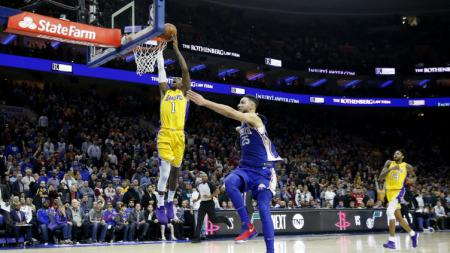 LA Lakers vs Philadelphia 76ers. - INDOSPORT
