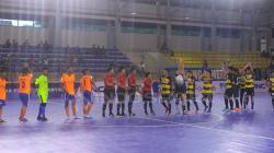 Situasi pertandingan Dumai FC vs Bifor FC.