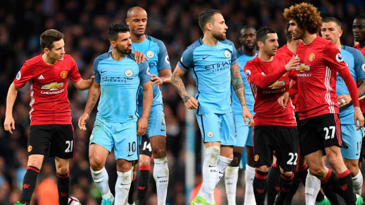 Derby Manchester. Copyright: The Sun