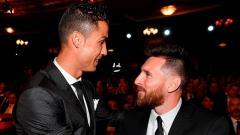 Indosport - Lionel Messi berkesempatan hengkang dari raksasa LaLiga Spanyol, Barcelona dan main di Italia, Cristiano Ronaldo tunjukkan reaksi ini.